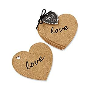 Simply Chic Wedding Love Heart Cork Wedding Coaster Favor  -Shipping Included - SIMPLY CHIC WEDDING STORE