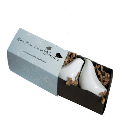 Simply Chic Wedding Love Doves Salt & Pepper Shaker Favor - Shipping Included - SIMPLY CHIC WEDDING STORE
