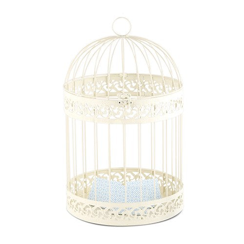 Classic Birdcage Wedding Reception Gift Card Holder In Ivory -Shipping Included - SIMPLY CHIC WEDDING STORE