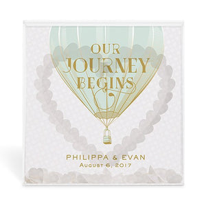 Our Journey Begins Personalized Acrylic Shadow Box Guest Book Alternative -Personalization & Shipping Included - SIMPLY CHIC WEDDING STORE