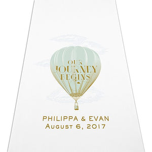 Our Journey Begins Personalized Wedding Ceremony Aisle Runner -Personalization & Shipping Included - SIMPLY CHIC WEDDING STORE