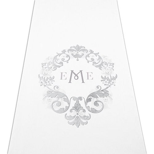 Simply Chic Wedding Monogram Ceremony Aisle Runner -Personalization & Shipping Included - SIMPLY CHIC WEDDING STORE