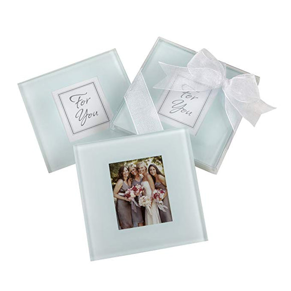 Simply Chic Wedding Glass Photo Coaster -Shipping Included - SIMPLY CHIC WEDDING STORE