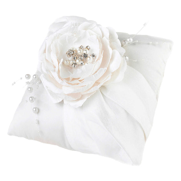 Simply Chic Wedding Vintage Pearl Ring Bearer Pillow -Shipping Included - SIMPLY CHIC WEDDING STORE