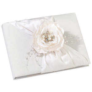 Simply Chic Wedding Vintage Pearl Wedding Guest Book And Pen Set -Shipping Included - SIMPLY CHIC WEDDING STORE