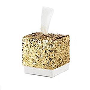 Simply Chic Wedding Gold or Silver Glitter DIY Favor Box (Set of 24) -Shipping Included - SIMPLY CHIC WEDDING STORE