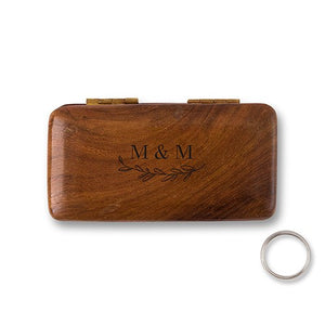 Charming Wooden Personalized Wedding -Personalization & Shipping Included Ceremony Ring Box - SIMPLY CHIC WEDDING STORE