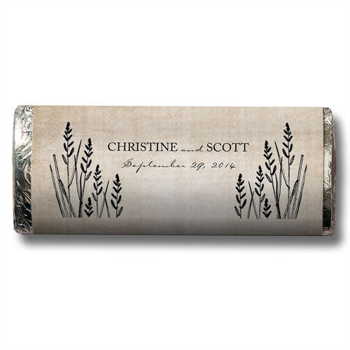 Rustic Barn Wedding Personalized Chocolate Candy Bar Favor  -Personaliztion & Shipping Included - SIMPLY CHIC WEDDING STORE