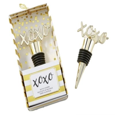 Simply Chic Wedding XOXO Bottle Stopper Favor -Shipping Included - SIMPLY CHIC WEDDING STORE