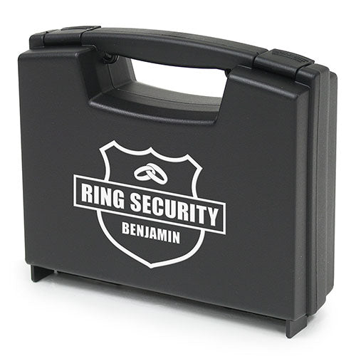 Simply Chic Wedding Personalized Ring Bearer Ring Security Case -Shipping Included