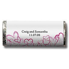 Love Hearts Personalized Chocolate Candy Bar Wedding Favor  -Personaliztion & Shipping Included - SIMPLY CHIC WEDDING STORE