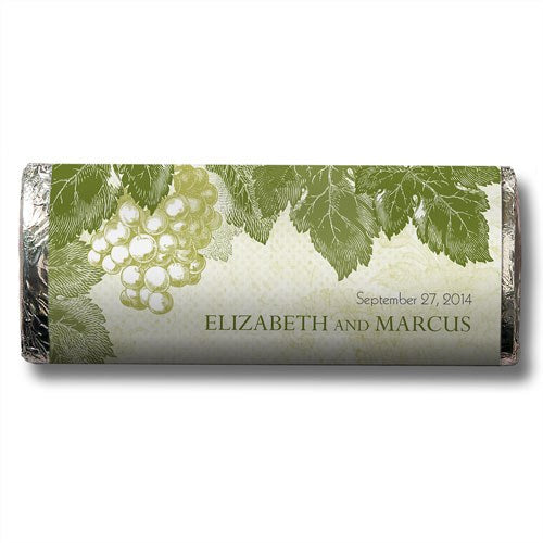 Romantic Winery Wedding Personalized Chocolate Candy Bar Favor  -Personaliztion & Shipping Included - SIMPLY CHIC WEDDING STORE