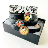 Frida Kahlo Leather Bracelet Set