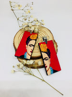 frida kahlo handpainted earrings