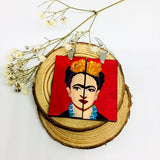 frida kahlo hand painted earrings