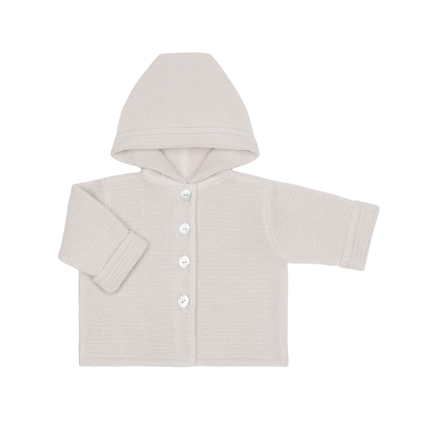 jacket with hood  100% organic cotton Dune color