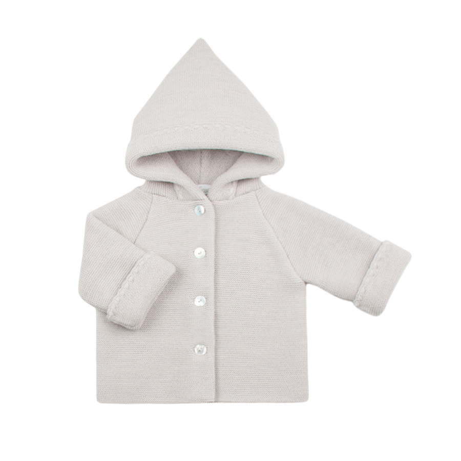 hooded jacket  100% organic merino wool