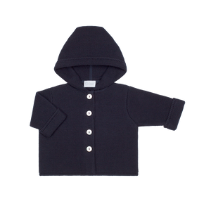 jacket with hood  100% organic cotton Marine Color