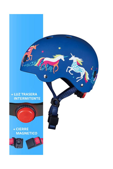 Casco Unicornio con led