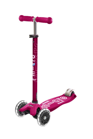 PATINETE MAXI DELUXE ROSA LED