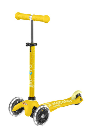 Patinete Mini Deluxe Amarillo - Ruedas con Led -
