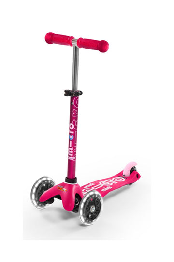 Patinete Mini Deluxe Rosa - Ruedas con Led -