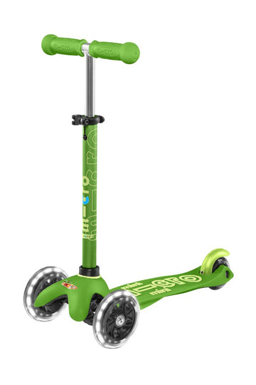 Patinete Mini Deluxe Verde- Ruedas con Led -