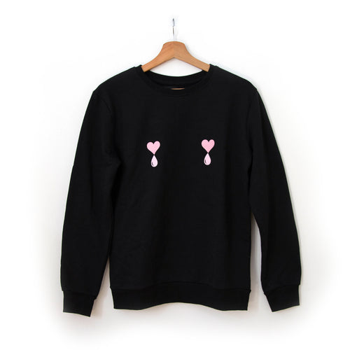 Black Liquid Love Sweater