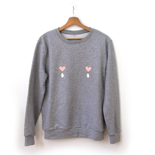 Grey Liquid Love Sweater