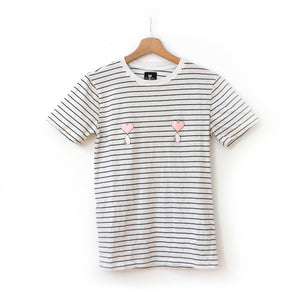 Striped Liquid Love Tee