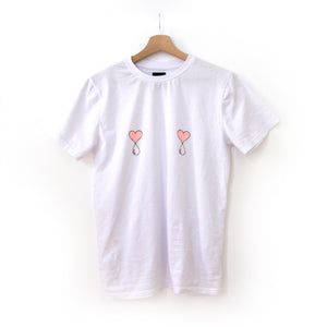 White Liquid Love Tee