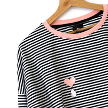 Load image into Gallery viewer, Striped Long Sleeve Nursing Top