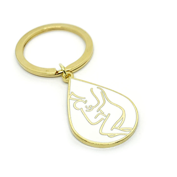 Co-Sleeping Love Keyring