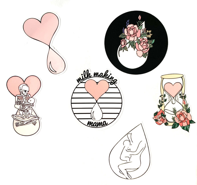 Milk-Making Mama Sticker Set