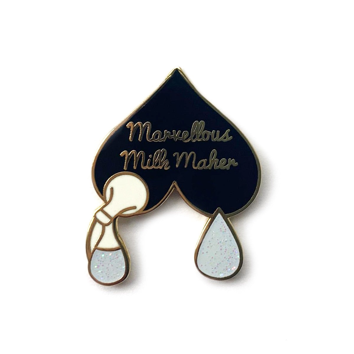 Marvellous Milk Maker Enamel Pin - Black