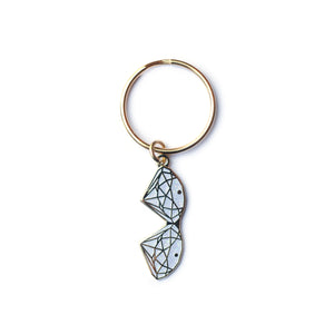 Diamond Boobie Keyring