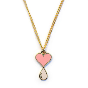 Liquid Love Enamel Necklace Gold