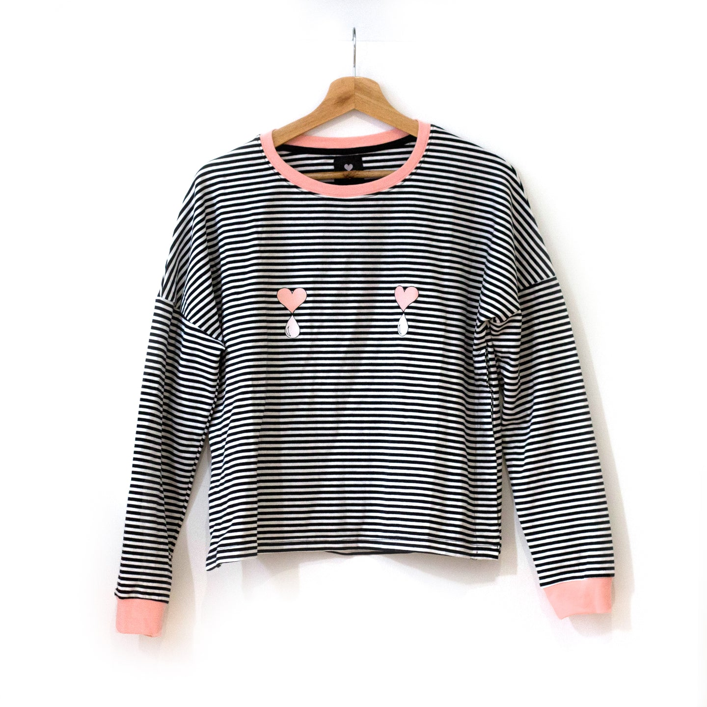 Striped Long Sleeve Nursing Top