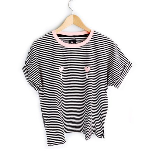 Striped Short Sleeve Liquid Love Nursing Top