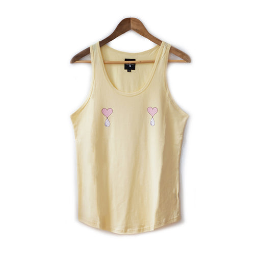 Pale Yellow Liquid Love Tank Top