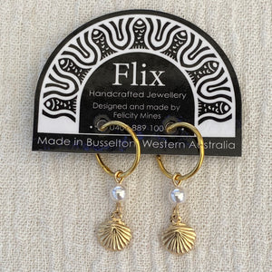Gold Small Shell Earrings