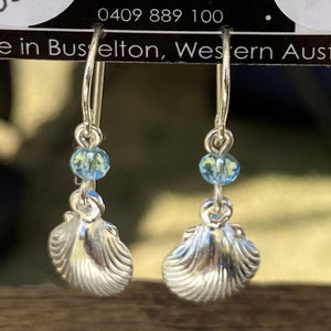 Shell Charm Sterling Silver Earrings