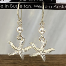 Load image into Gallery viewer, Starfish Charm Sterling Silver Earrings