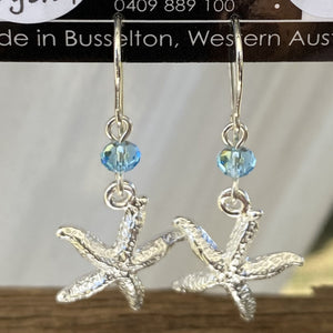 Starfish Charm Sterling Silver Earrings