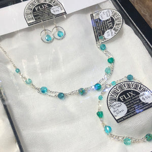 Meelup Teals 2 Strand Necklace