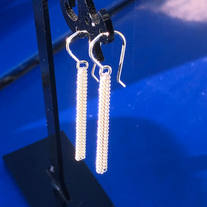 Sterling Silver Chain Tassels Earrings 333
