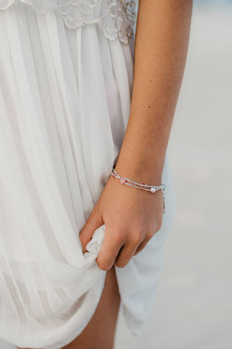Prevelly Pinks 2 Strand Bracelet