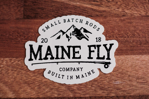 "MFC Sticker - White 4"" - Maine Fly Company"