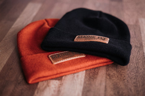 MFC Leather Patch Beanie - Maine Fly Company