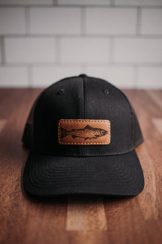 MFC Landlocked Leather Patch Hat - Maine Fly Company